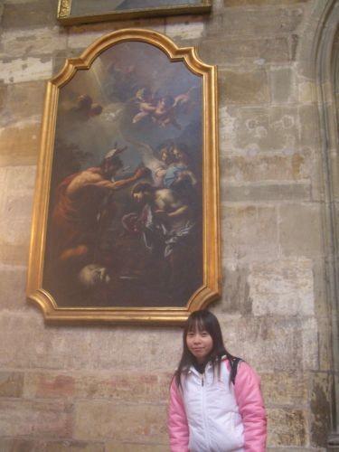 教堂內的畫作