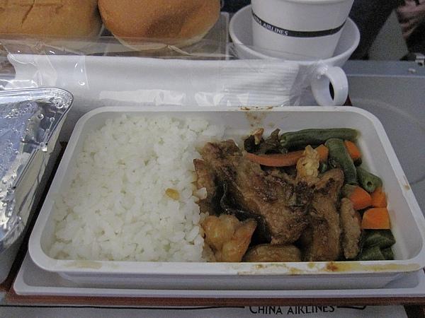 華航的飛機餐好難吃!