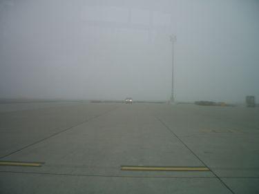 霧茫茫的維也納機場