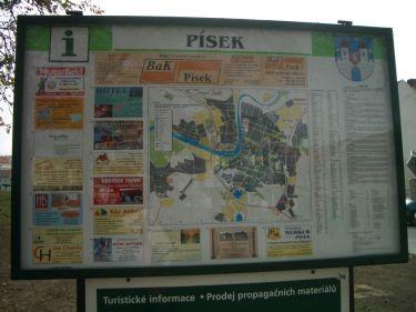 PISEK的地圖