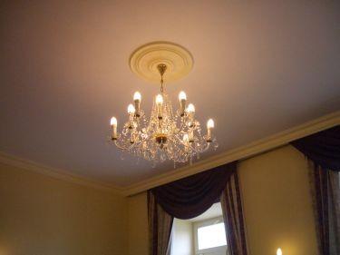 餐廳的水晶燈