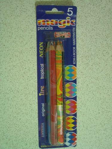 五支大的七彩筆