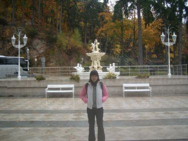 飯店門口的噴泉