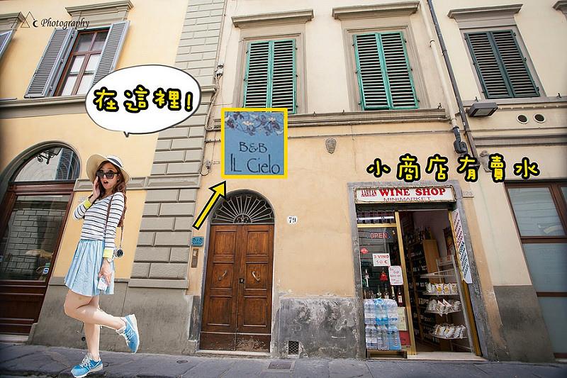 Florence Il Cielo B&B door