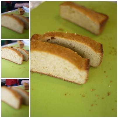 搞笑的香蕉蛋糕矮了平常的蛋糕一半在禪心茶香咖啡館