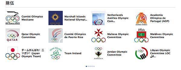 2012倫敦奧運FB粉絲團-隊伍