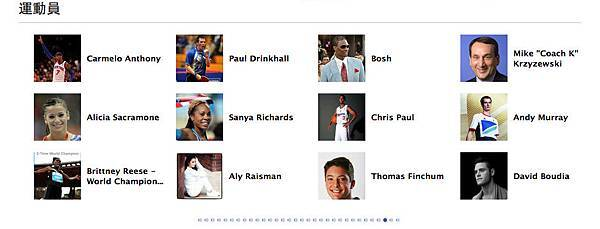 2012倫敦奧運FB粉絲團-運動員