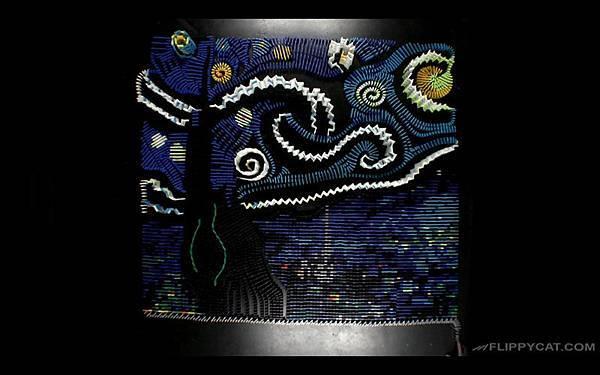 7000個骨牌排出梵谷名畫星夜(Starry Night)_006