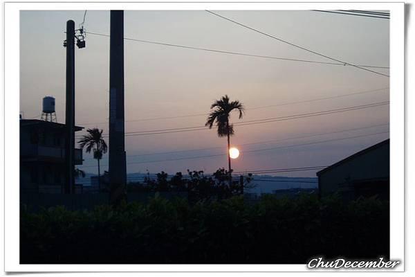 每次旅程的結束總是伴著夕陽~