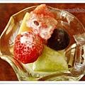 義大利麵附的餐前水果