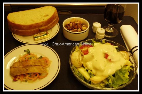 回程 AA 晚餐前菜
