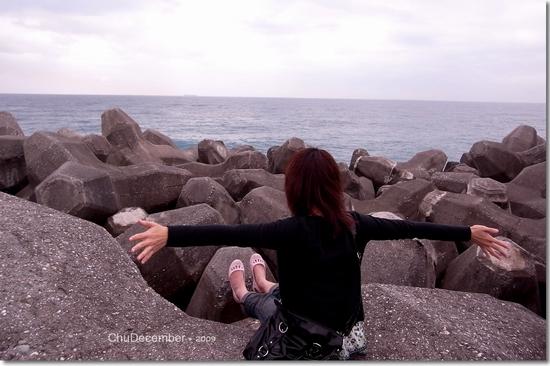 開心擁抱來花蓮的第一片海