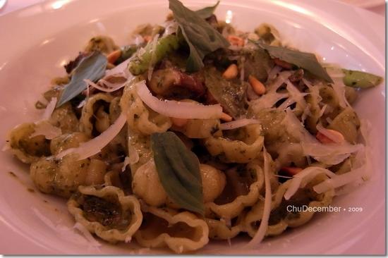 青醬蘑菇貝殼麵