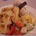 普普的冰淇淋水果鬆餅