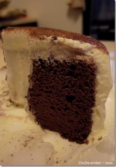好吃的鮮奶油巧克力戚風蛋糕^^