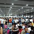 恐怖的上海車站月台口