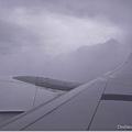 快到日本開始出現厚雲層