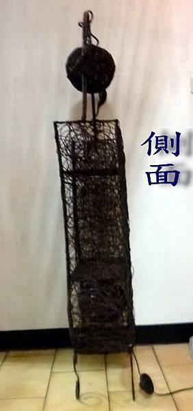 竹藤製/置物架/小夜燈