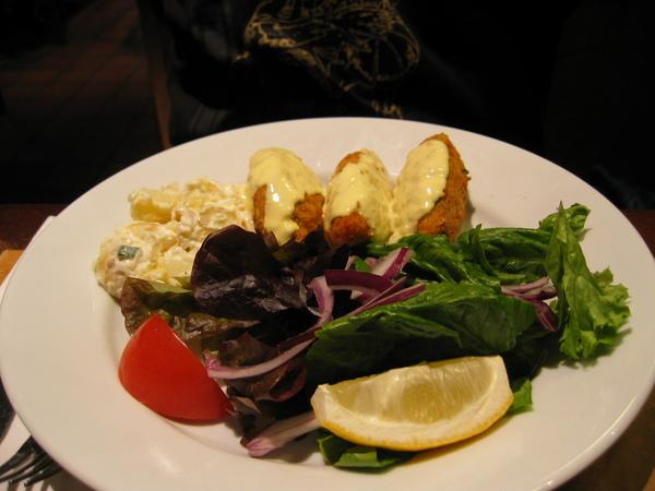 晚餐: 阿諒的fish pancake