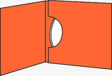 CD包裝(橫開式)線條透視圖