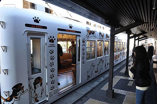 可愛的貓列車