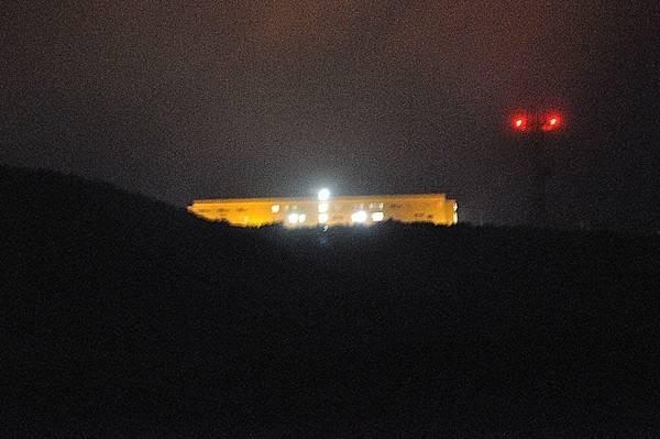 山頂的日本自衛隊基地
