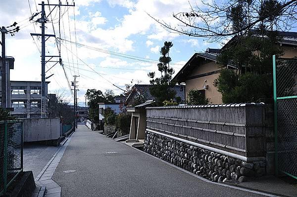 上野城附近的街道