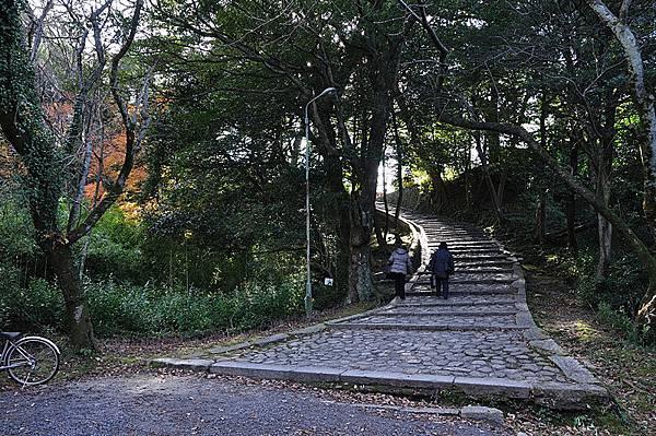 走上去就是上野城了~
