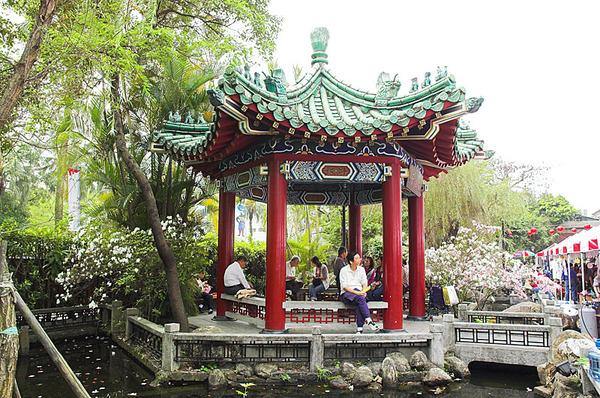 中國式的涼亭