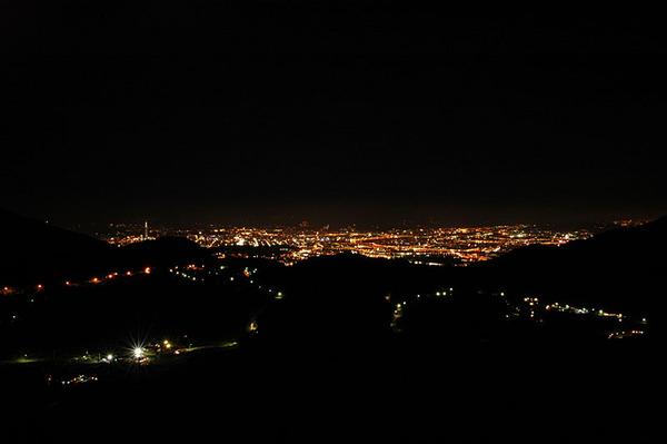 台北市的燈火