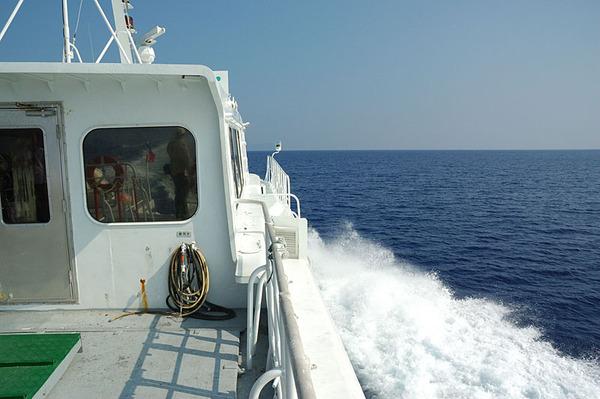 往蘭嶼出發的船