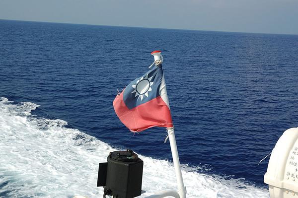 飄揚的中華民國國旗