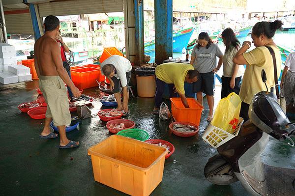 富岡漁港的魚市場