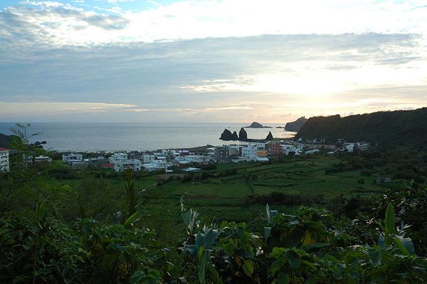 綠島海岸一景