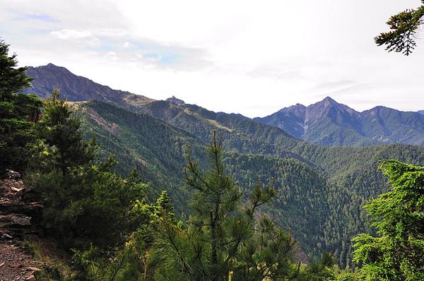 往南湖大山的路上可以清楚的看到中央尖山...