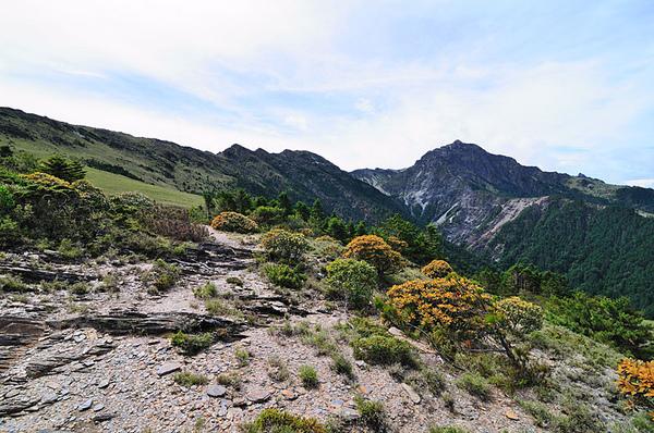 五岩峰和南湖大山