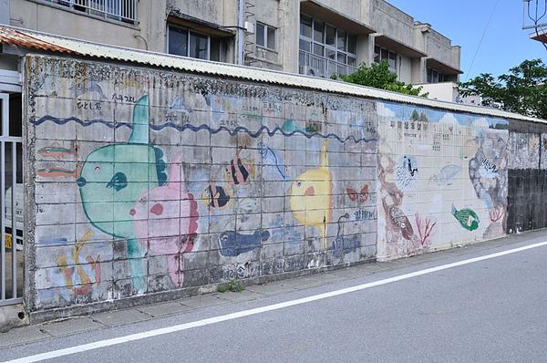 阿波連小學校外牆