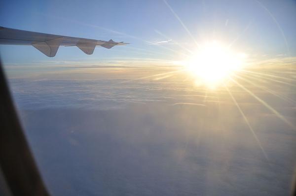 飛機上的黃昏