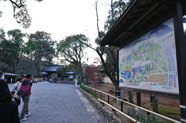 金閣寺外面