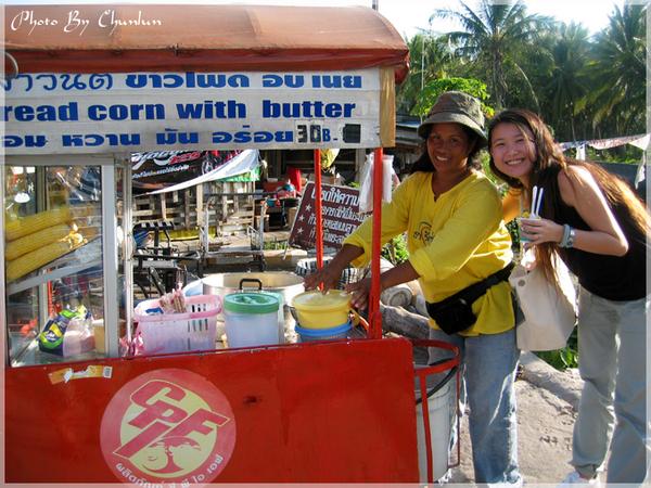拉邁(Lamai)市場 - 奶油玉米攤販