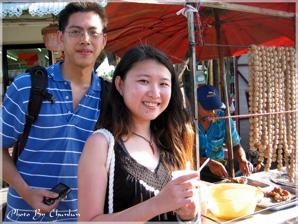 拉邁(Lamai)市場 - 糯米腸攤販