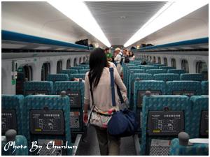高鐵列車 - 經濟車廂內