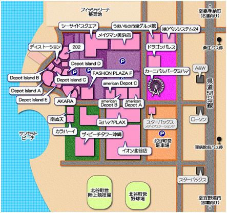 American Village 美國村 - Map