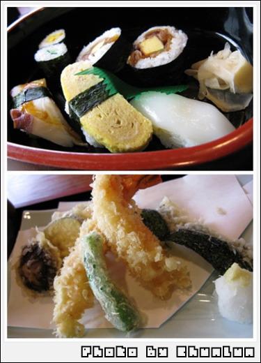 傳七壽司 - 天ぷら盛合せとぉ壽司
