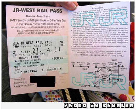 JR West Pass一日卷
