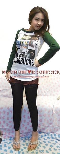 starbucks T-shirt♥超級可愛的啦