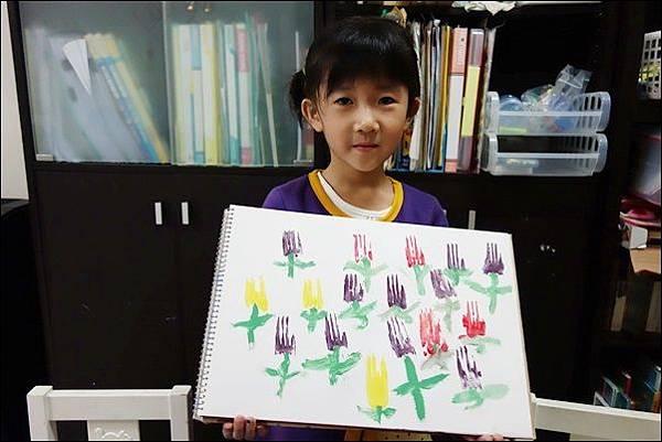 叉子印畫鬱金香 (4)