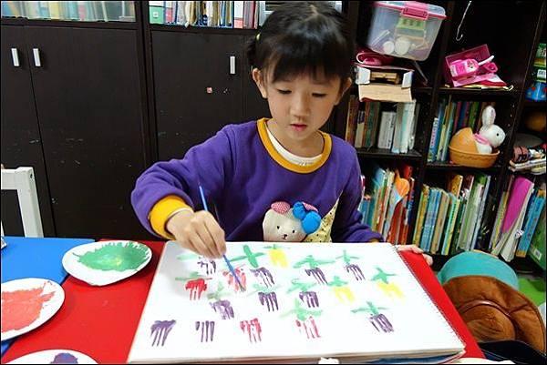 叉子印畫鬱金香 (5)