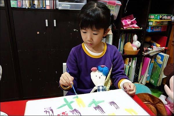 叉子印畫鬱金香 (9)