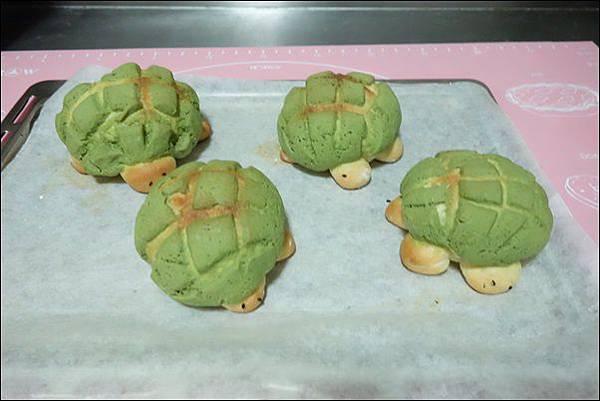 抹茶烏龜波蘿麵包 (22)